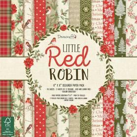 Zestaw papierów Little Red Robin - 20x20 cm