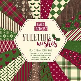 Zestaw papierów Yuletide Wishes 10x10cm