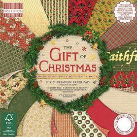 Zestaw papierów The Gift of Christmas  - 15x15 cm