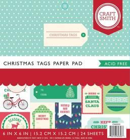 Zestaw papierów Christmas Tags - 15x15 cm