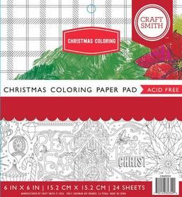 Zestaw papierów Christmas Coloring - 15x15 cm