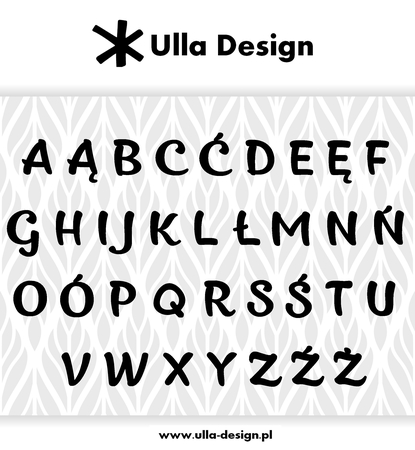Wykrojnik Ulla Design Alfabet Polskie Litery Duże 1118 8