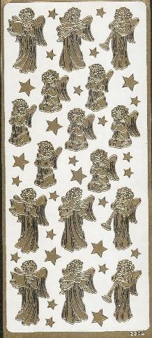 Naklejka ozdobna 2209 Aniołki złota