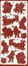 Naklejka ozdobna 1754 Mikołaj Święta czerwona