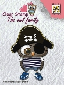 Stempel Nellie's CSO011 Pirate Sowa