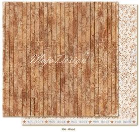 Arkusz 30x30 cm Denim & Friends - Wood