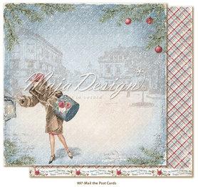 Arkusz 30x30 cm  Christmas Season - Mail the postcard