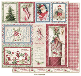 Arkusz 30x30 cm  Christmas Season - Ephemera