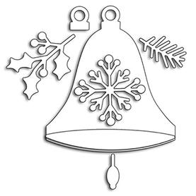 Wykrojnik Dzwonek świąteczny 7 el. (2819)
