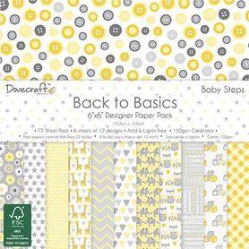 Zestaw papierów Back to Basics Baby Steps 15x15