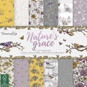Zestaw papierów Dovecraft Nature's Grace 15x15 cm
