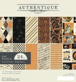 Zestaw papierów Authentique Nightfall 15x15 cm