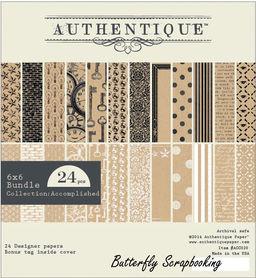 Zestaw papierów Authentique Accomplished  15x15 cm