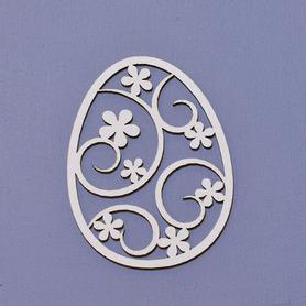 (TEK-ED8) Kartonowe jajko z kwiatkami