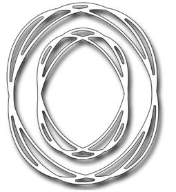 Wykrojnik Dwie ramki okrągłe - nieregularne (9204)