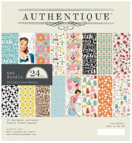 Zestaw papierów Authentique Saucy 15x15 cm