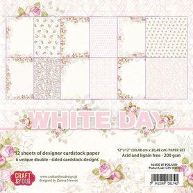 Zestaw papierów 30,5x30,5 cm White Day (CPS-WD30)