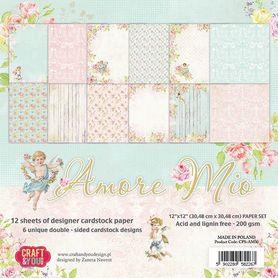 Zestaw papierów 30,5x30,5 cm Amore Mio (CPS-AM30)