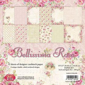 Zestaw papierów 30,5x30,5 cm Bellisima Rosa (BR30)