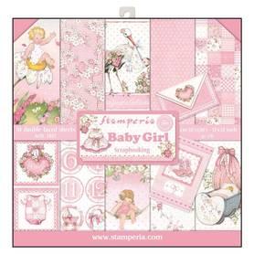 Zestaw papierów 30x30 - Stamperia - Baby Girl