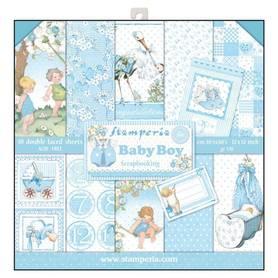 Zestaw papierów 30x30 - Stamperia - Baby Boy