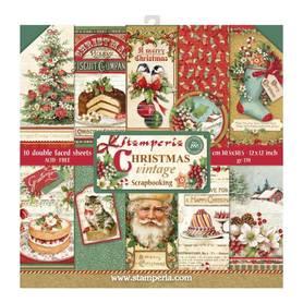 Zestaw papierów 30x30 - Stamperia - Christmas Vintage
