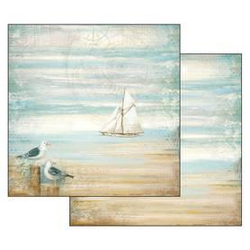 Arkusz 30x30 cm Stamperia - Sea Land Seagulls (SBB542)