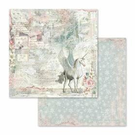 Arkusz 30x30cm Stamperia - Unicorn Fantasy (SBB558)