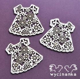 (WYC642) Ażurowe sunkienki 3szt