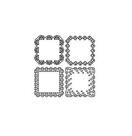 Wykrojnik Cztery małe serwetki kwadratowe (0752)