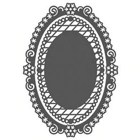 Wykrojnik Ramka owalna ażurowa 2 el. (11284)
