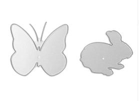 Wykrojnik Motyl i króliczek (197422)