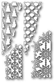 Wykrojnik Memory Box - Distressed Holiday Collage - Narożniki ażurowe Święta