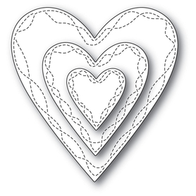 Wykrojnik Memory Box - Wrapped Stitch Hearts (30116)