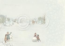 Arkusz dwustronny - Snow day 30,5x30,5cm (22001F)
