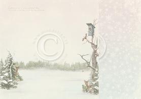 Arkusz dwustronny - Winter morning 30,5x30,5cm (22003f)