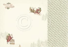Arkusz dwustronny - Santa Claus is coming 30,5x30,5cm (20001)