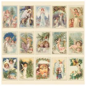 Arkusz z elementami Christmas angels  30x30 166F