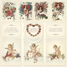 Arkusz z elementami To my Valentine  30x30 1609