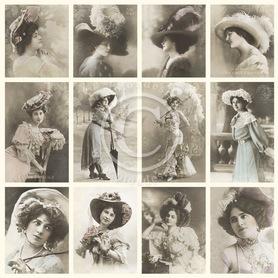 Arkusz z obrazkami Elegant ladies 30x30 (3112)
