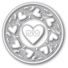 Wykrojnik Memory Box - Pinpoint Heart Circle 94106