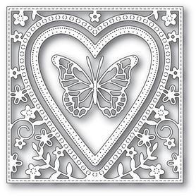 Wykrojnik Memory Box - Butterfly Heart Frame 94110