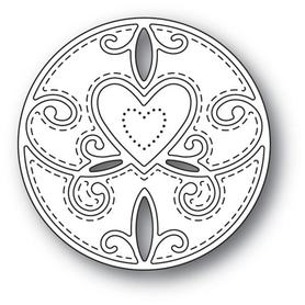 Wykrojnik Memory Box - Scroll Heart Circle (94111)