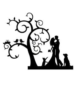 Wykrojnik Para młoda przy drzewie (DMW1071)