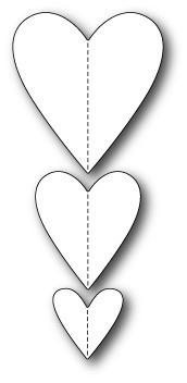 Wykrojnik Memory Box - Stitched Heart Trio (99312)