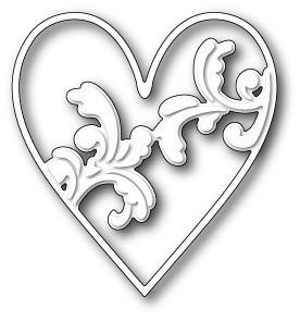 Wykrojnik Memory Box - Elliana Heart (99355)