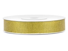 Tasiemka brokatowa, złota, 10mm/25m (TSB10-019)