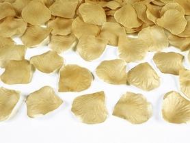 Płatki róż w woreczku, złoty (1 op. / 100 szt.)