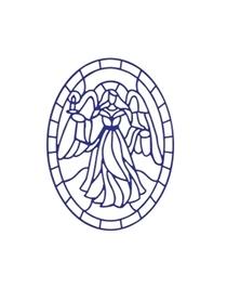 Wykrojnik Witraż Anioł (A7)