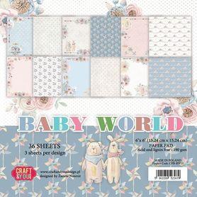 CPB-BW15 Bloczek 15x15 cm Baby World